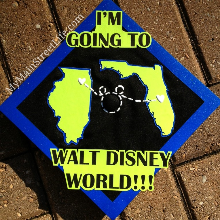 Disney graduation cap